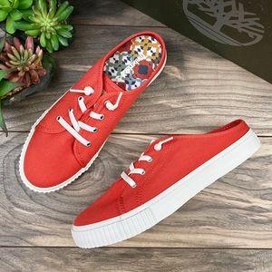 NIB Timberland Skyla Bay Canvas Mule Sneaker
